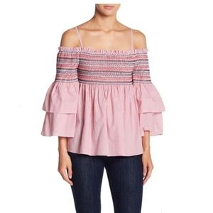 Endless Rose Smock Off Shoulder Top